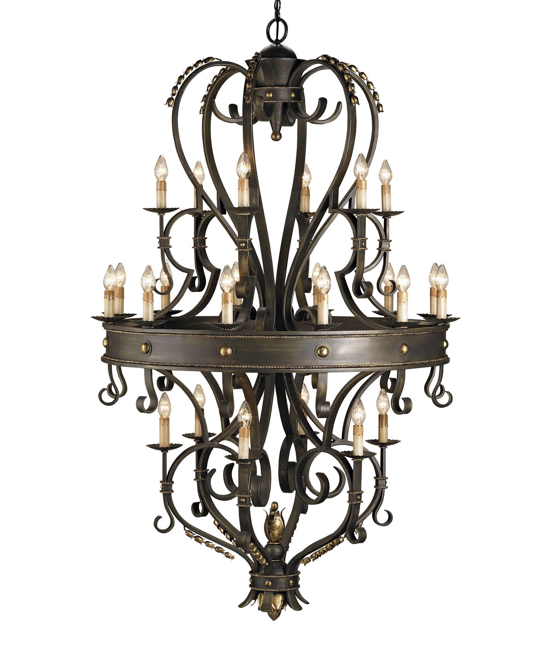 đèn chùm sắt châu âu phong cách cổ điển 1127