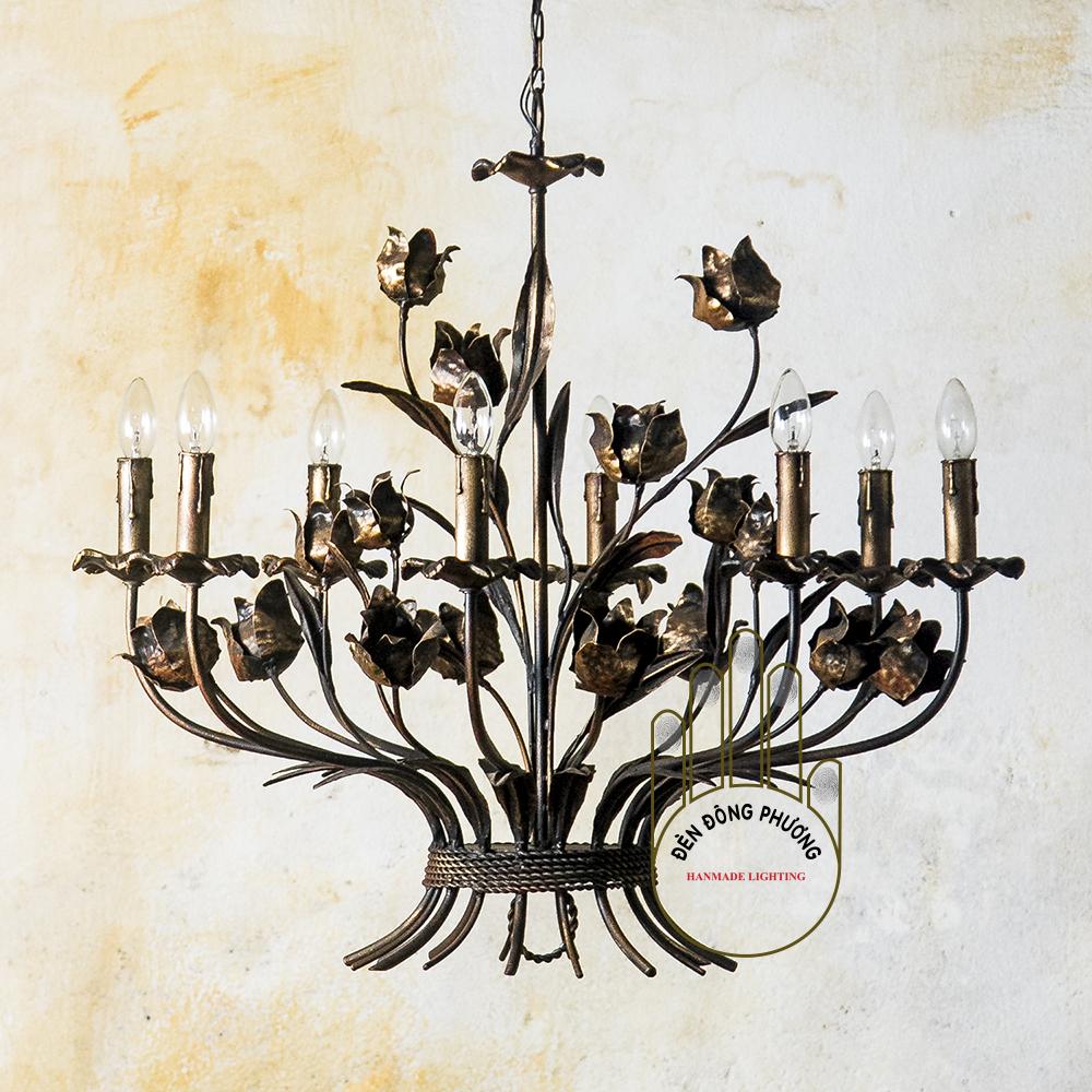 đèn chùm hoa lá châu âu 1131