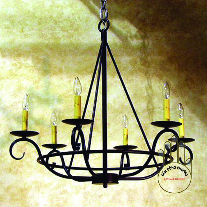 đèn chùm phong cách địa trung hải