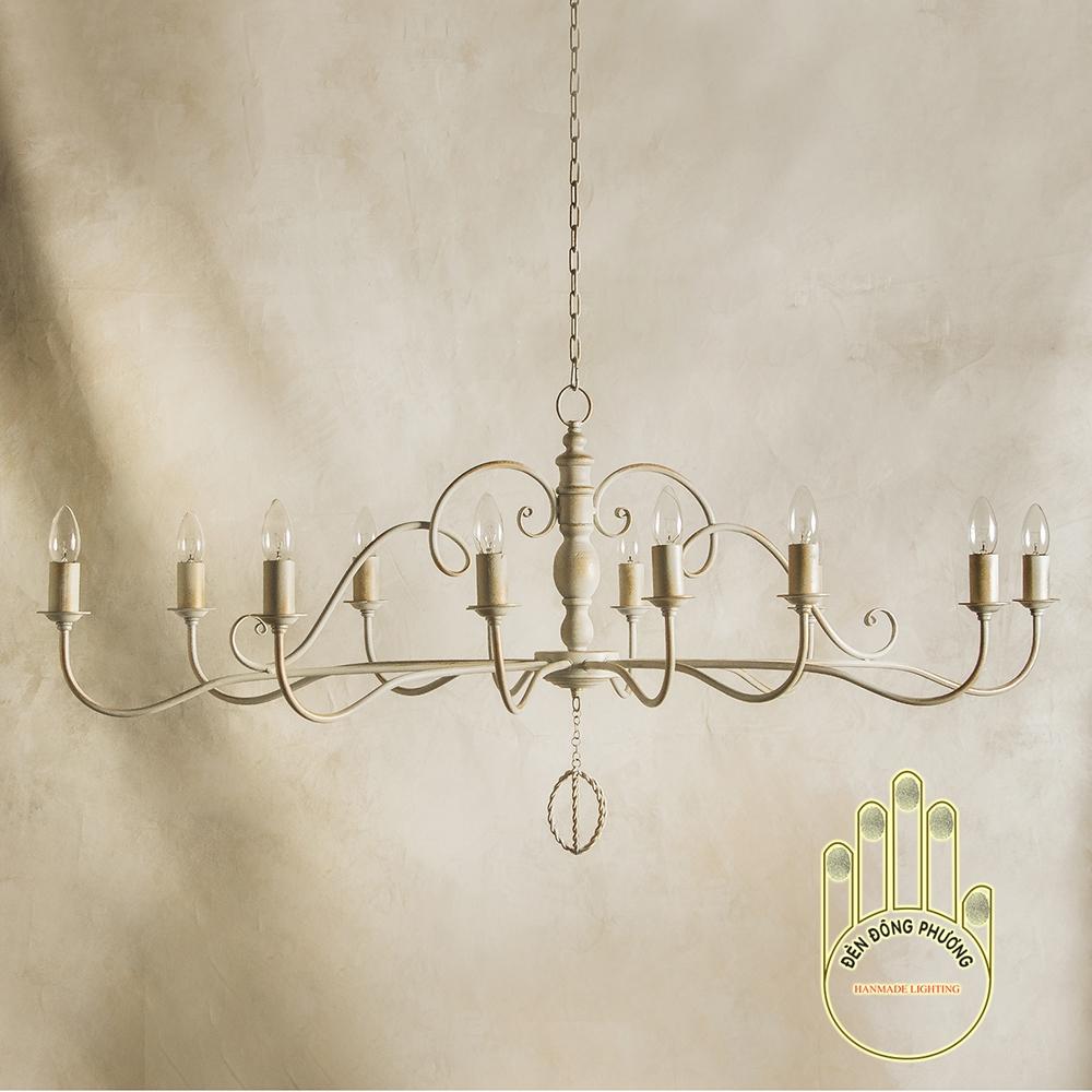 đèn chùm phòng ăn kiểu châu âu