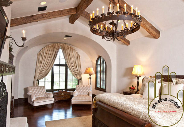 đèn chùm phòng ngủ châu âu đẹp