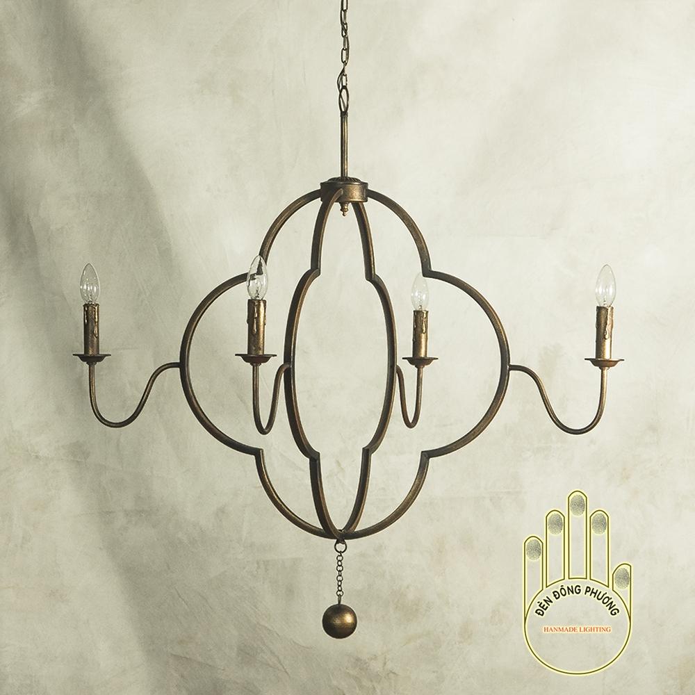 đèn chùm sắt thủ công đẹp tinh xảo